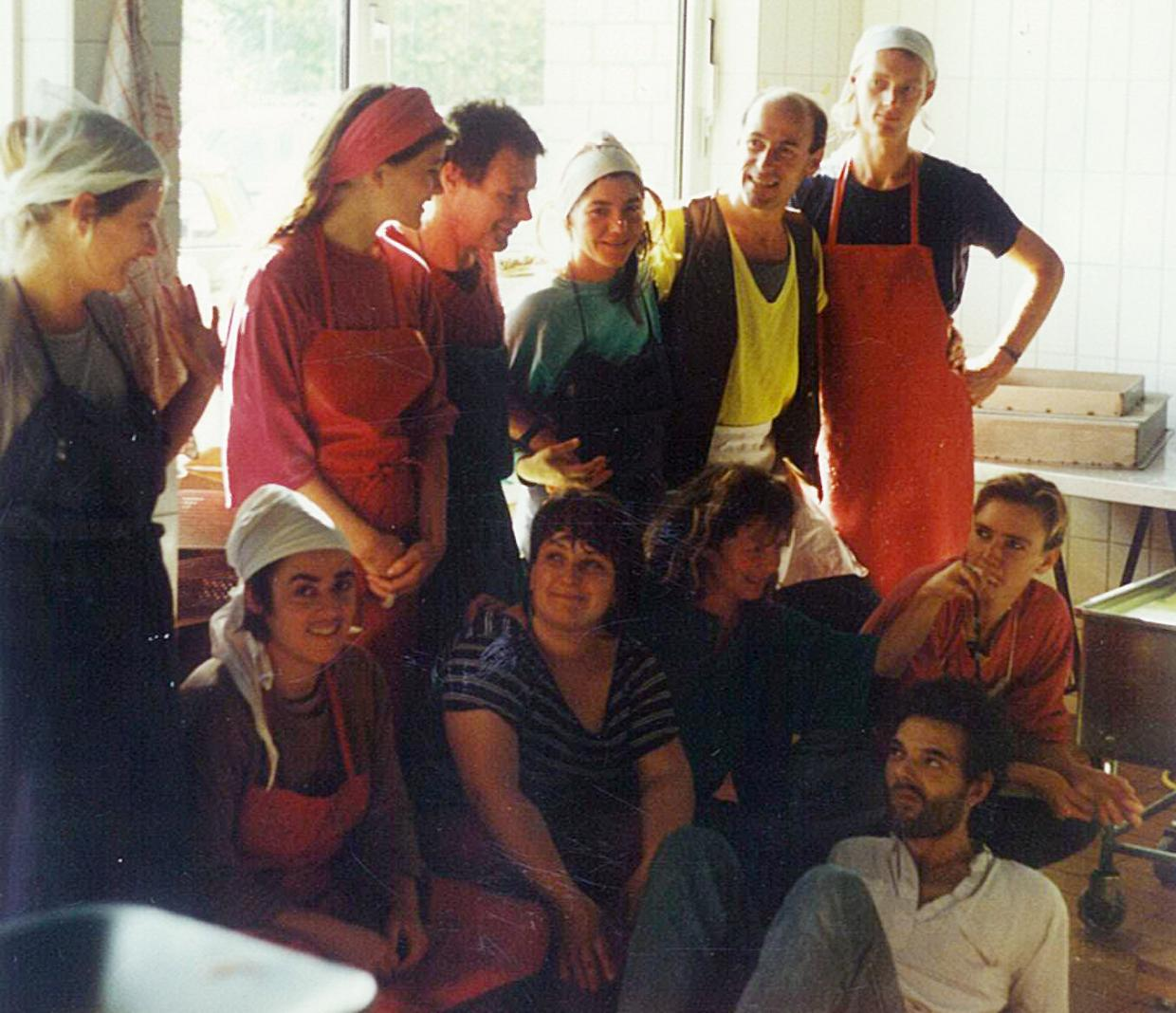Our founders and their team: Klaus (top row, 3rd from the left) and Wolfgang (top row, 2nd from the right).