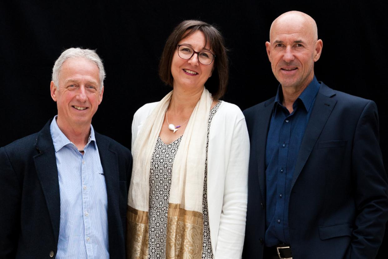 The new trio of managing directors: Alfons Graf, Elisabeth Huber and Wolfgang Heck (from left to right).